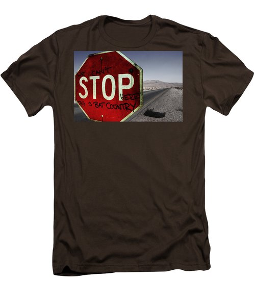 This Is Bat Country Men's T-Shirt (Slim Fit) by Nicklas Gustafsson