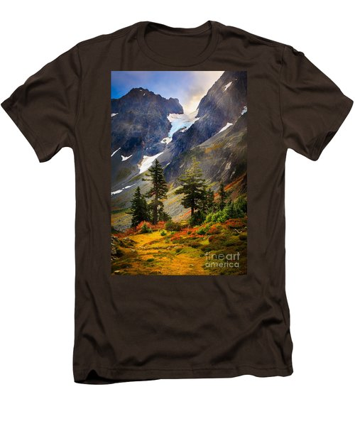 Top Of Cascade Pass Men's T-Shirt (Slim Fit) by Inge Johnsson