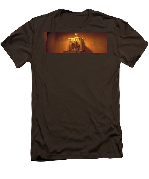 Usa, Washington Dc, Lincoln Memorial Men's T-Shirt (Slim Fit) by Panoramic Images