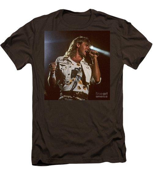 Joe Elliot Men's T-Shirt (Slim Fit) by David Plastik