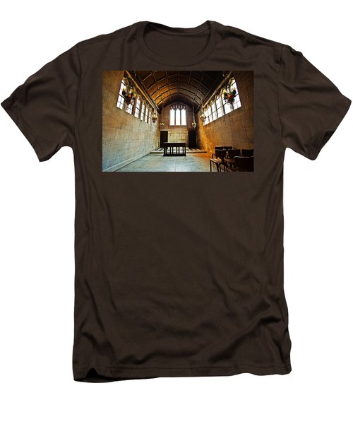 Of Stone And Wood Men's T-Shirt (Slim Fit) by CJ Schmit