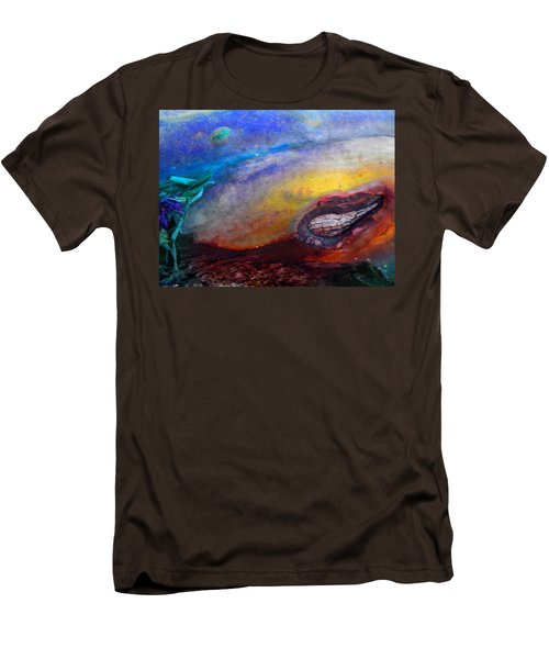 Men's T-Shirt (Slim Fit) featuring the digital art Travel by Richard Laeton