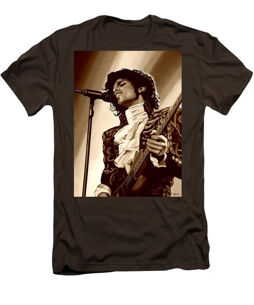 Prince The Artist Men's T-Shirt (Slim Fit) by Paul Meijering