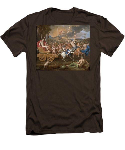The Triumph Of Bacchus Men's T-Shirt (Slim Fit) by Nicolas Poussin