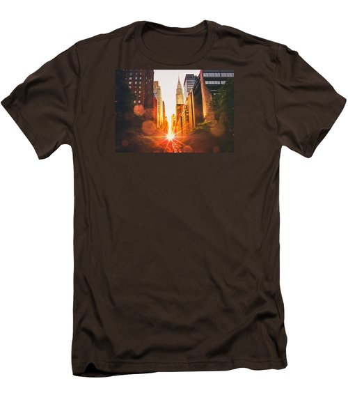 New York City Men's T-Shirt (Slim Fit) by Vivienne Gucwa