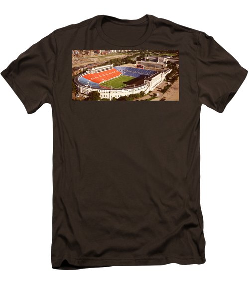 Aerial View Of A Stadium, Soldier Men's T-Shirt (Slim Fit) by Panoramic Images