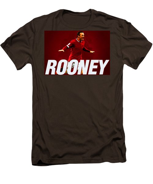 Wayne Rooney Men's T-Shirt (Slim Fit) by Semih Yurdabak