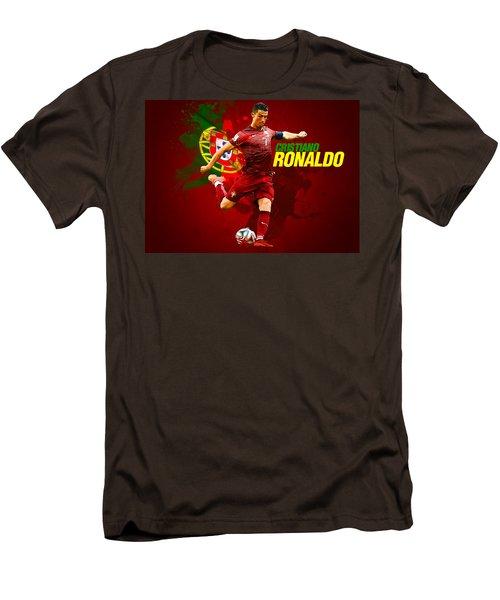 Cristiano Ronaldo Men's T-Shirt (Slim Fit) by Semih Yurdabak