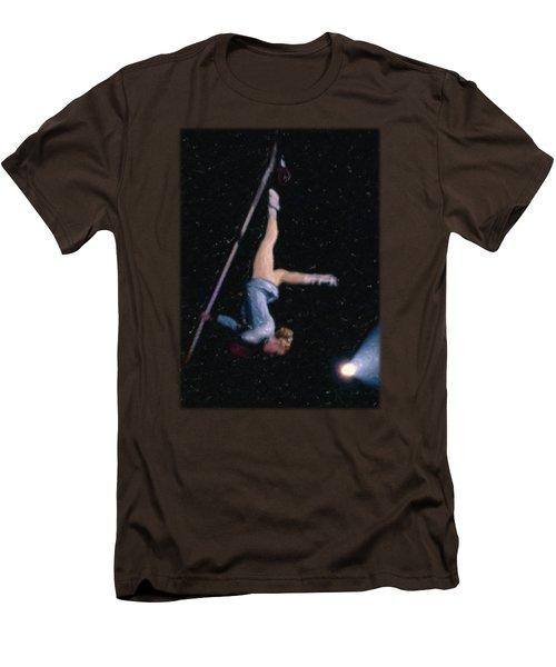 Aerial Acrobat Men's T-Shirt (Slim Fit) by Jon Delorme