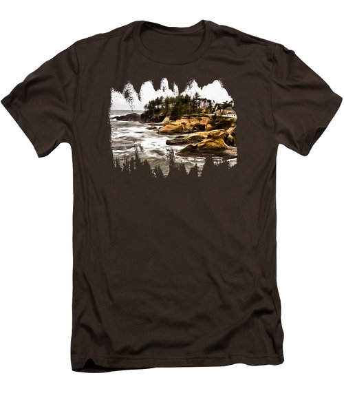 Arch Rock Depoe Bay Men's T-Shirt (Slim Fit) by Thom Zehrfeld