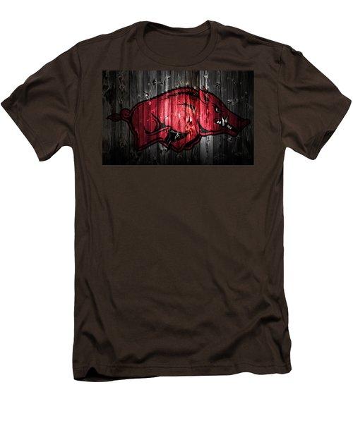 Arkansas Razorbacks 2a Men's T-Shirt (Slim Fit) by Brian Reaves