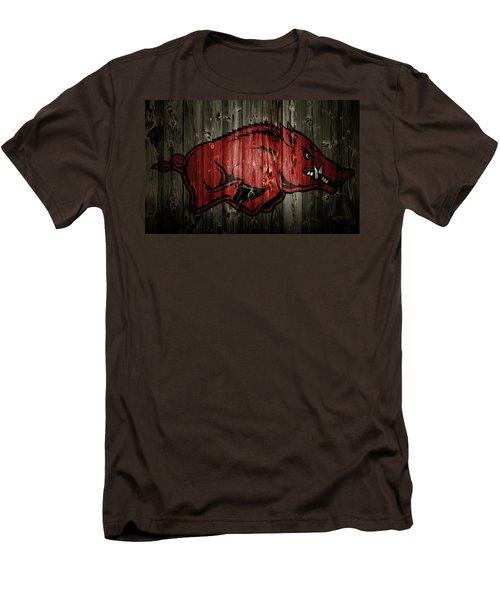 Arkansas Razorbacks 2b Men's T-Shirt (Slim Fit) by Brian Reaves