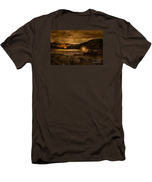 Attack At Nightfall Men's T-Shirt (Slim Fit) by Amanda Elwell