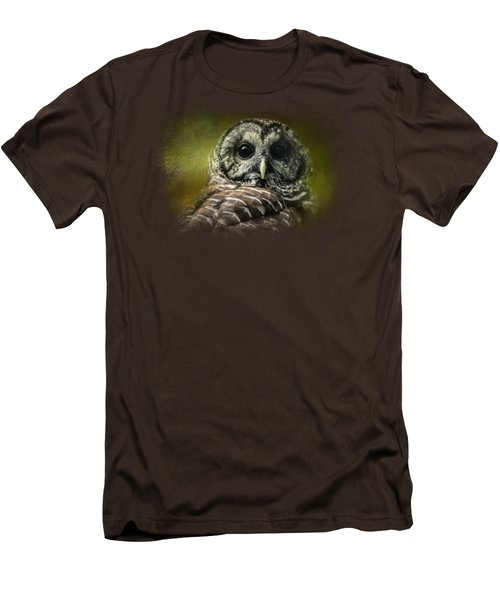 Barred Owl In The Grove Men's T-Shirt (Slim Fit) by Jai Johnson