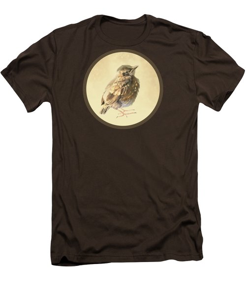 Blackbird Fledgeling Men's T-Shirt (Slim Fit) by Bamalam  Photography