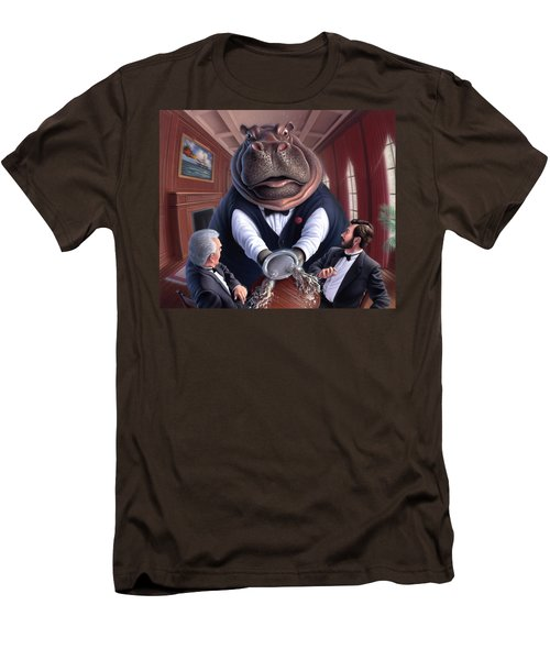 Clumsy Men's T-Shirt (Slim Fit) by Jerry LoFaro