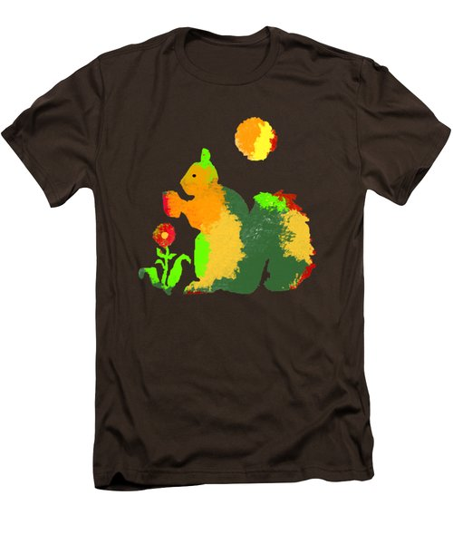 Colorful Squirrel 1 Men's T-Shirt (Slim Fit) by Holly McGee
