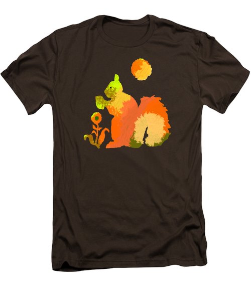 Colorful Squirrel 2 Men's T-Shirt (Slim Fit) by Holly McGee