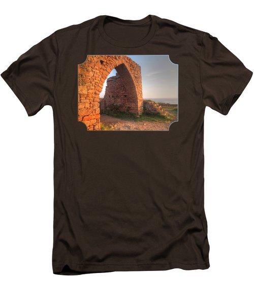 Evening Light On Grosnez Castle Ruins Jersey Men's T-Shirt (Slim Fit) by Gill Billington