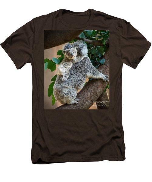 Hanging On Men's T-Shirt (Slim Fit) by Jamie Pham