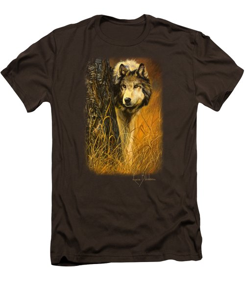 Interested Men's T-Shirt (Slim Fit) by Lucie Bilodeau