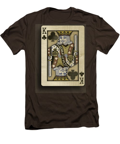 King Of Clubs In Wood Men's T-Shirt (Slim Fit) by YoPedro