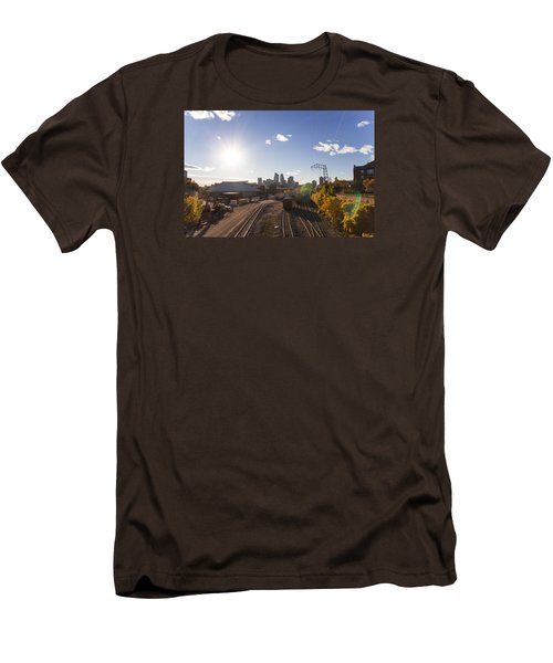 Minneapolis In The Fall Men's T-Shirt (Slim Fit) by Zach Sumners
