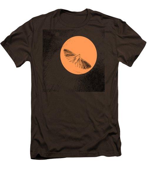 Moth In Orange Men's T-Shirt (Slim Fit) by Sverre Andreas Fekjan