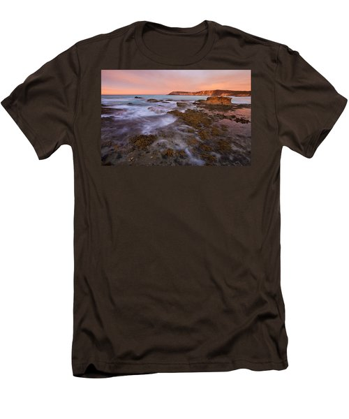 Red Dawning Men's T-Shirt (Slim Fit) by Mike  Dawson