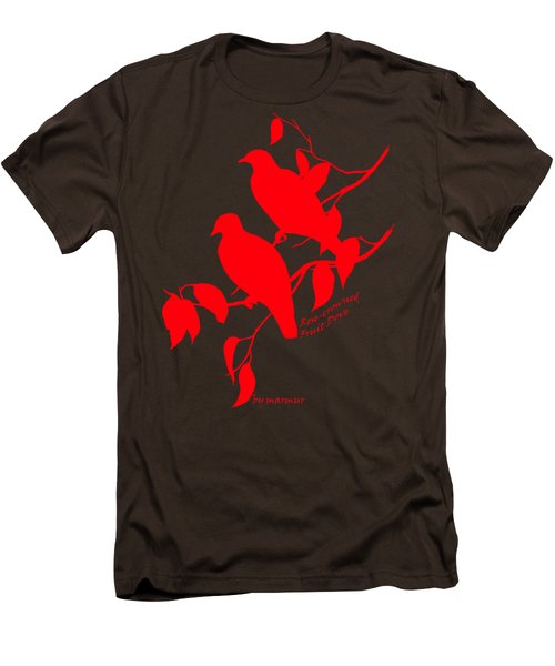 Red Doves Men's T-Shirt (Slim Fit) by The one eyed Raven