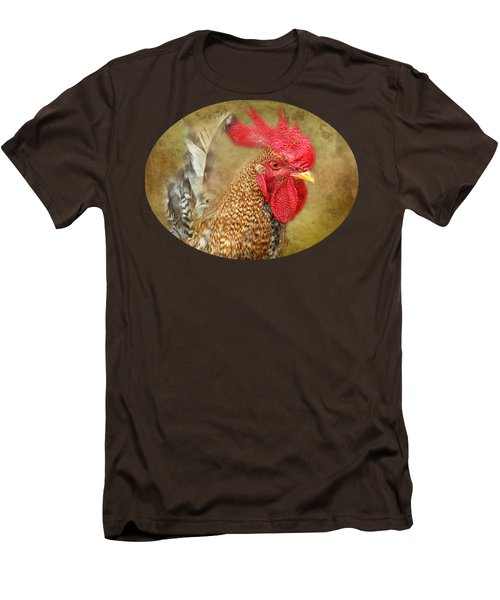 Rooster Profile Men's T-Shirt (Slim Fit) by Anita Faye