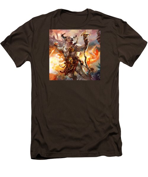 Spiritcaller Shaman Men's T-Shirt (Slim Fit) by Ryan Barger