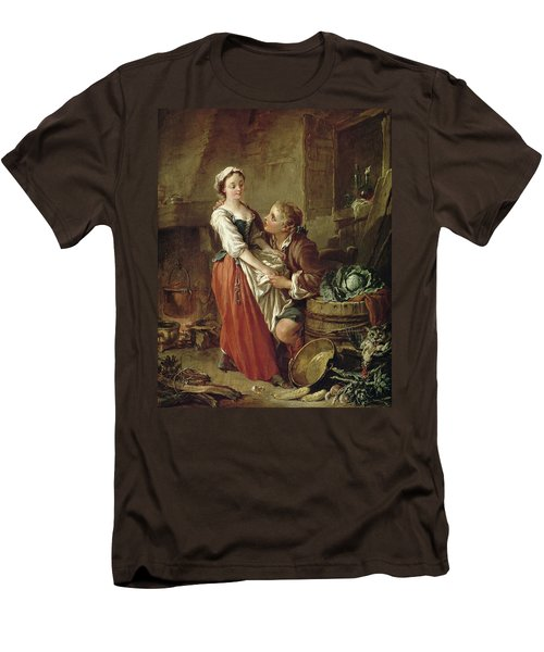 The Beautiful Kitchen Maid Men's T-Shirt (Slim Fit) by Francois Boucher