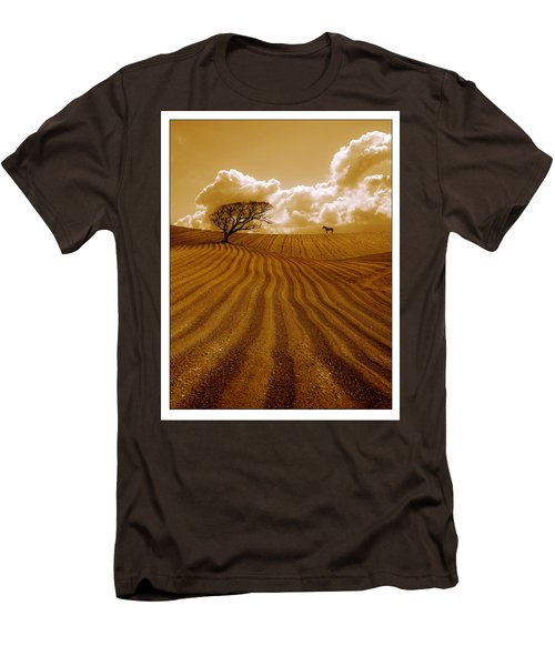 The Ploughed Field Men's T-Shirt (Slim Fit) by Mal Bray
