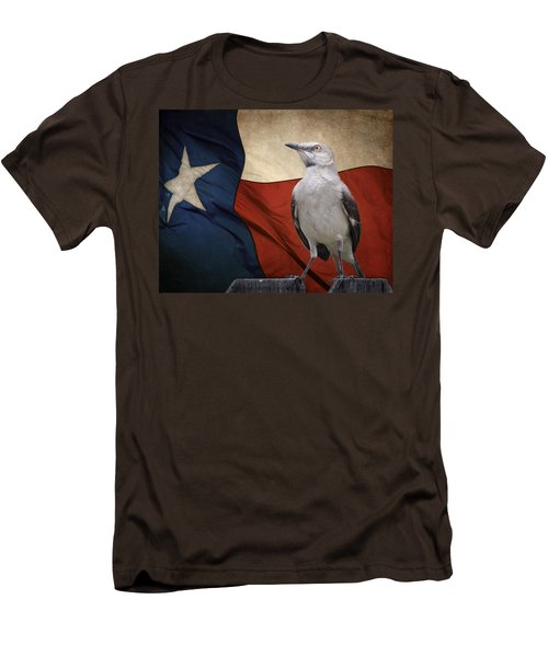 The State Bird Of Texas Men's T-Shirt (Slim Fit) by David and Carol Kelly