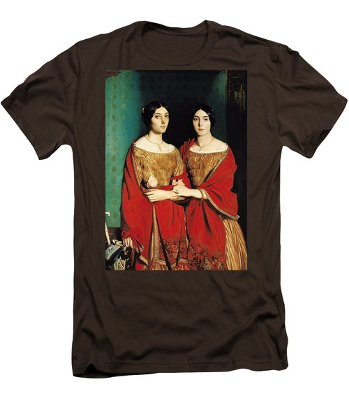 The Two Sisters Men's T-Shirt (Slim Fit) by Theodore Chasseriau