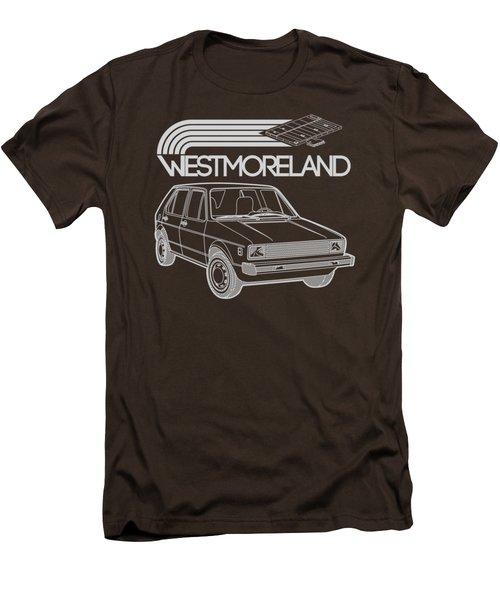 Vw Rabbit - Westmoreland Theme - Gray Men's T-Shirt (Slim Fit) by Ed Jackson