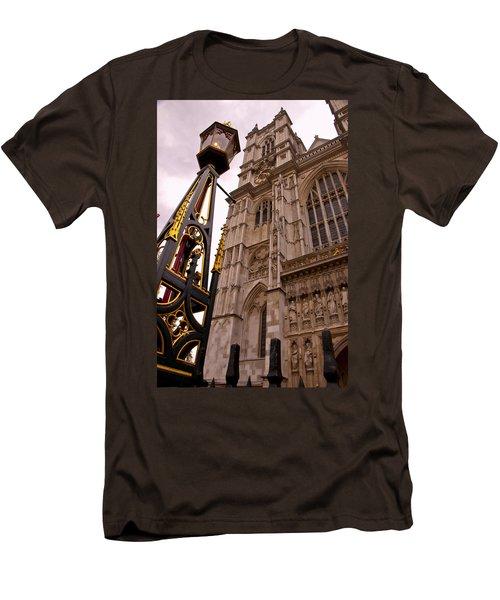 Westminster Abbey London England Men's T-Shirt (Slim Fit) by Jon Berghoff