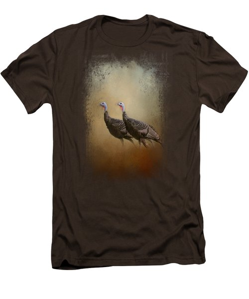 Wild Turkey At Shiloh Men's T-Shirt (Slim Fit) by Jai Johnson