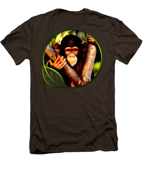 Young Chimpanzee Men's T-Shirt (Slim Fit) by Dan Pagisun