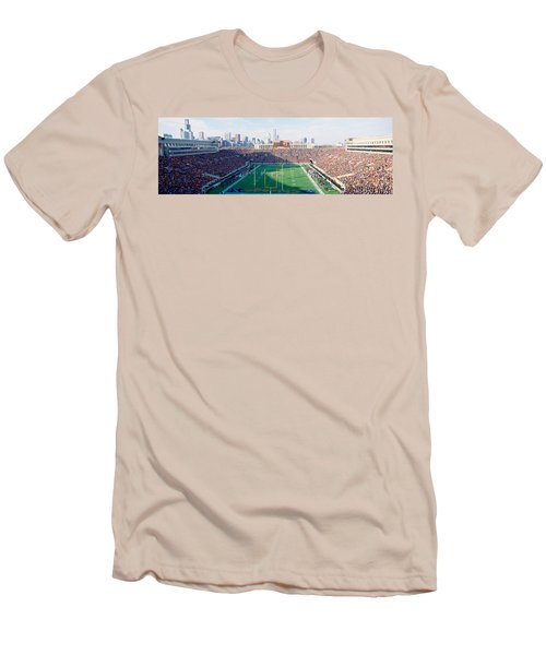 High Angle View Of Spectators Men's T-Shirt (Slim Fit) by Panoramic Images