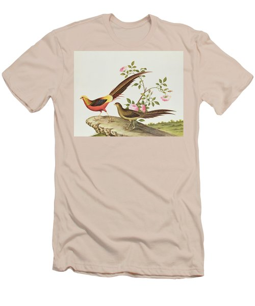 A Golden Pheasant Men's T-Shirt (Slim Fit) by Chinese School