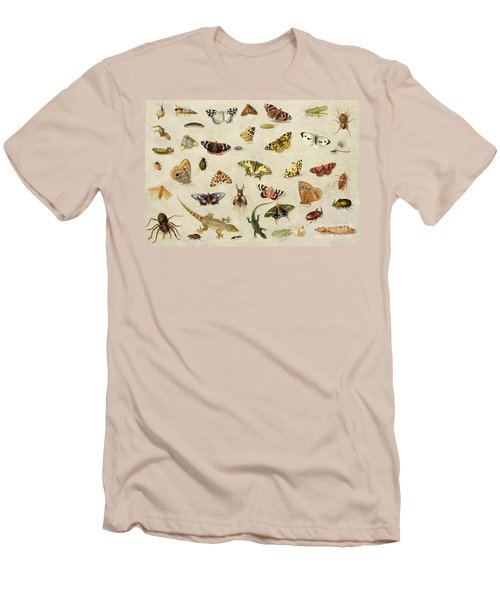 A Study Of Insects Men's T-Shirt (Slim Fit) by Jan Van Kessel