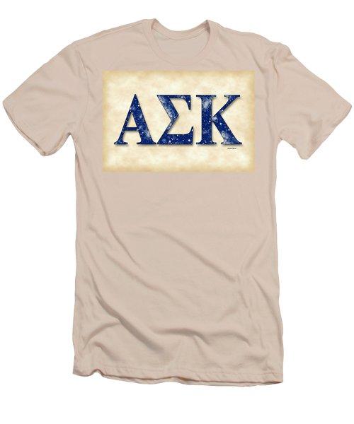 Alpha Sigma Kappa - Parchment Men's T-Shirt (Slim Fit) by Stephen Younts