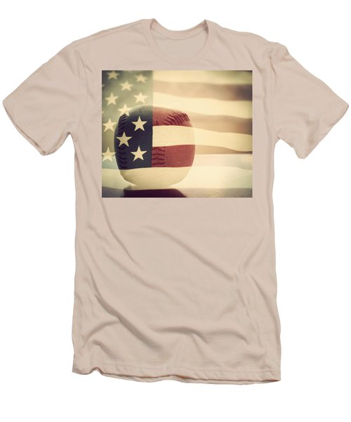 Americana Baseball  Men's T-Shirt (Slim Fit) by Terry DeLuco
