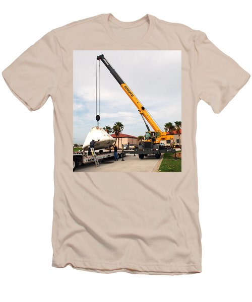 Men's T-Shirt (Slim Fit) featuring the photograph Apollo Capsule Going In For Repairs by Science Source