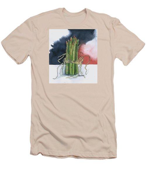 Asparagus In Raffia Men's T-Shirt (Slim Fit) by Maria Hunt