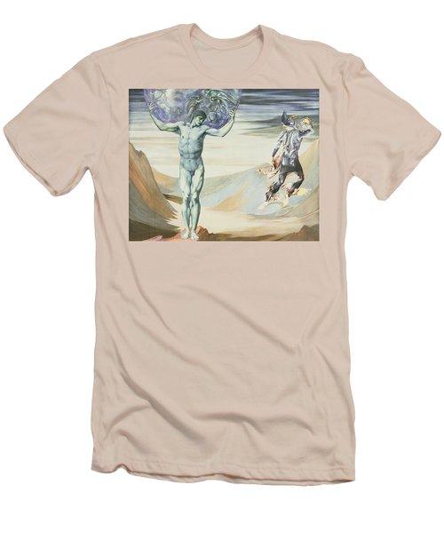 Atlas Turned To Stone, C.1876 Men's T-Shirt (Slim Fit) by Sir Edward Coley Burne-Jones