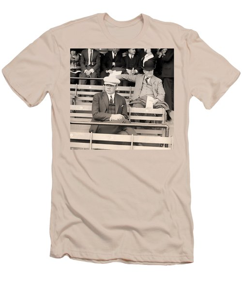 Babe Ruth In The Stands At Griffith Stadium 1922 Men's T-Shirt (Slim Fit) by Mountain Dreams