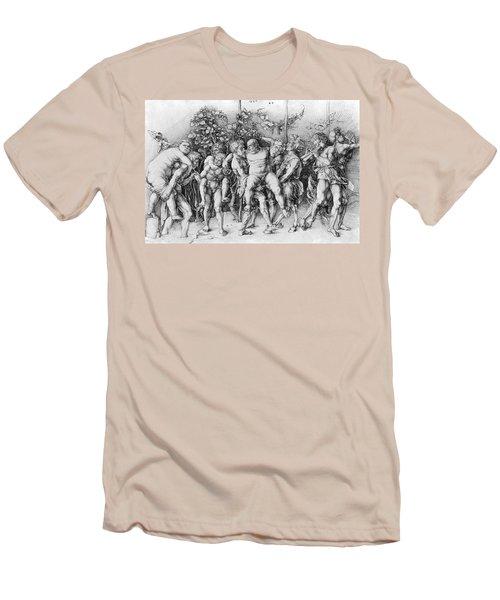 Bacchanal With Silenus - Albrecht Durer Men's T-Shirt (Slim Fit) by Daniel Hagerman